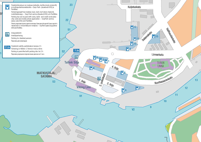 Pysäköinti Turku Satama